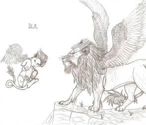 Winged Lions by Shadowfox012