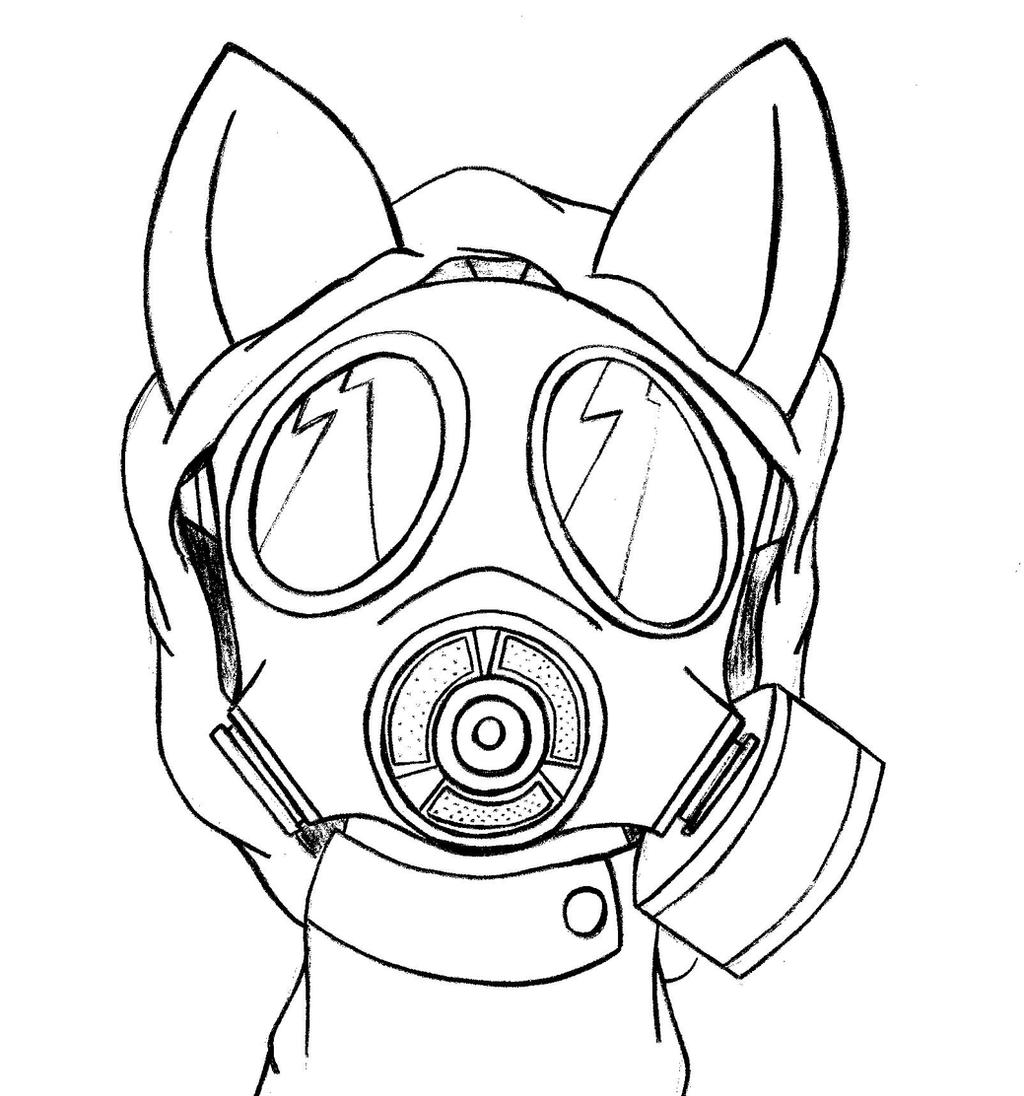 Even ponies can have gas masks -Sketch- by PANANOVICH on ...