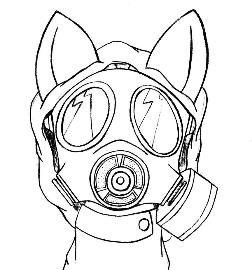 Even Ponies Can Have Gas Masks -Sketch- By PANANOVICH On DeviantArt