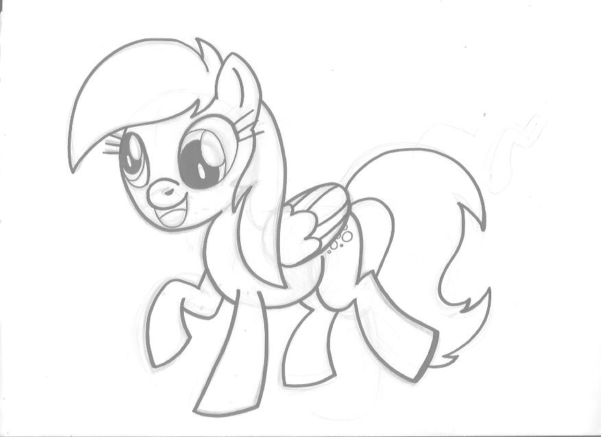 derpy hooves coloring pages | Muffin Derpy Hooves Sketch Coloring Pages