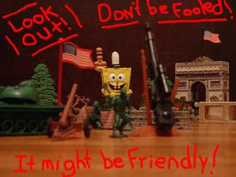 U.S. Army VS. SpongeBob Poster by black-adder