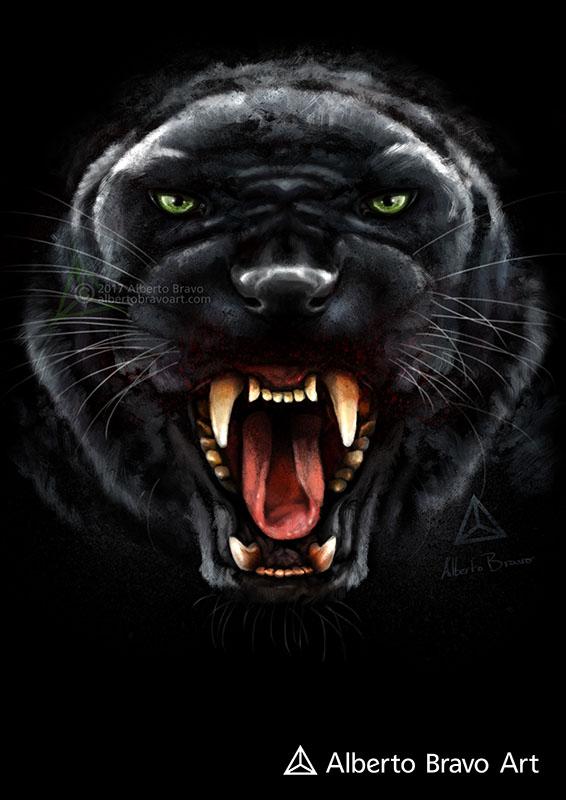 Black Panther (Wild Mode) by AlbertoBravo