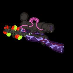 TF2 - Festive Purple Range Sniper Rifle Toon Style by ahmadridhwan