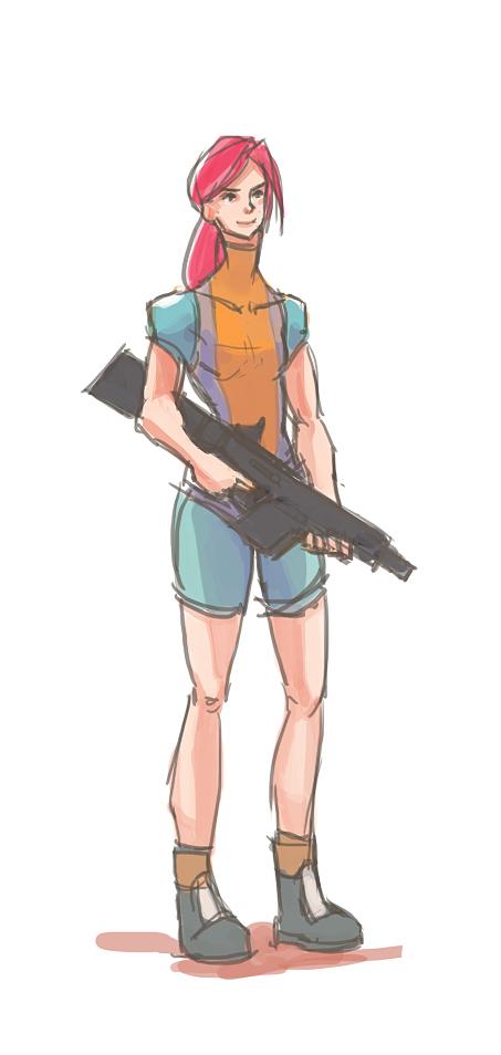 [Doodle] Sniper Girl by RaymondLuk