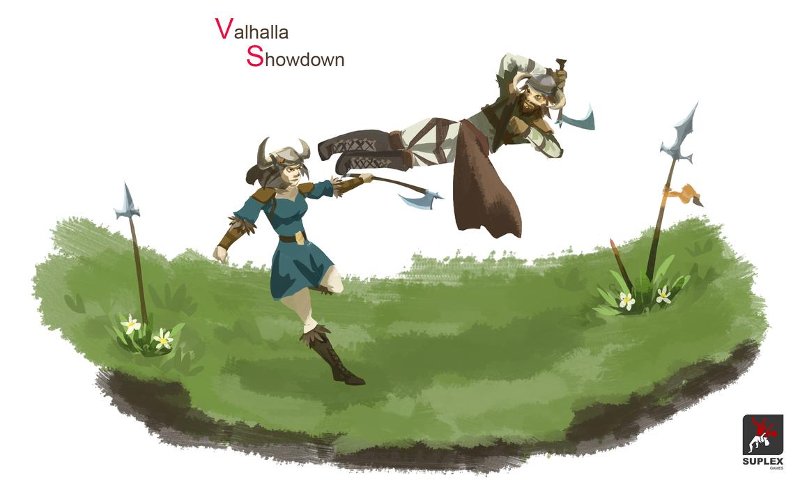 Valhalla Showdown - concept art by RaymondLuk