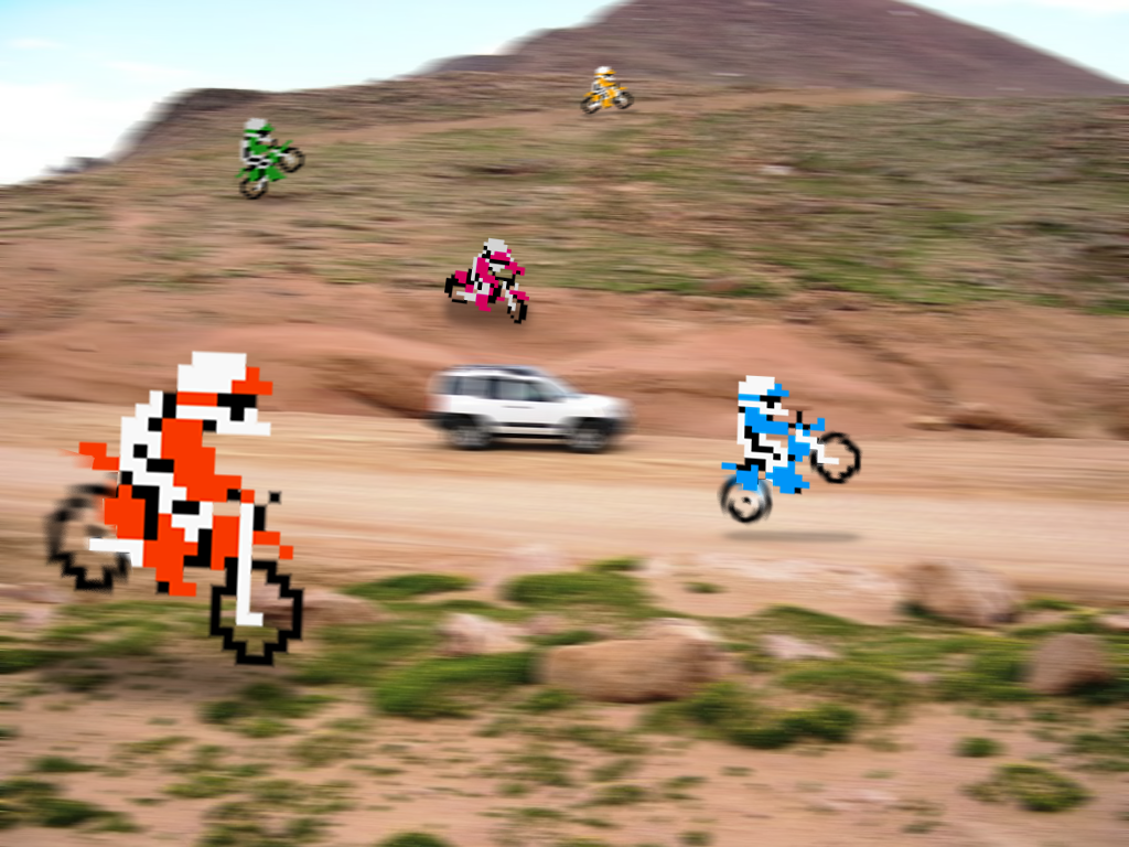 "Retro DirtTrack ""Excitebike"" by RETROnoob"