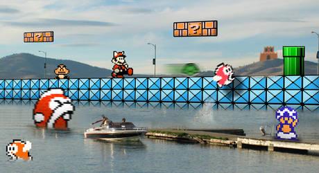 Retro Lake 'Mario Bros 3'