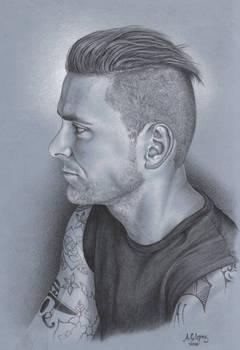 Charcoal Drawing: Portrait: E. Dawkins