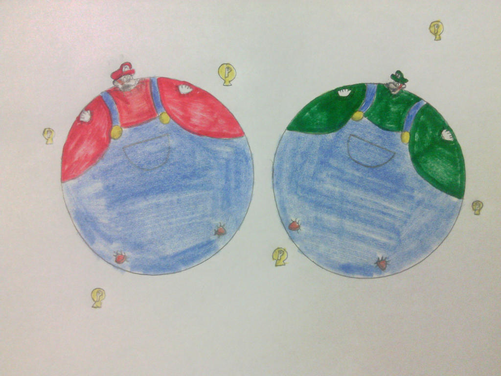 P Balloon: Mario's And Luigi's P-Balloon Inflation By Sonofss2