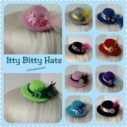 Itty Bitty Pony Inspired Hats by Smerkalot