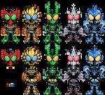Kamen Rider OOO set 1