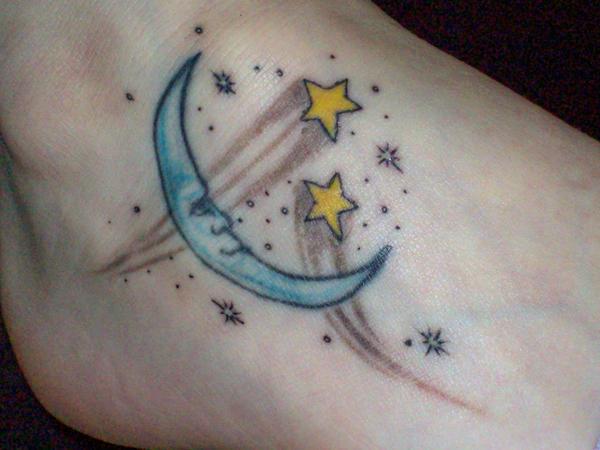 Moon and Stars Foot