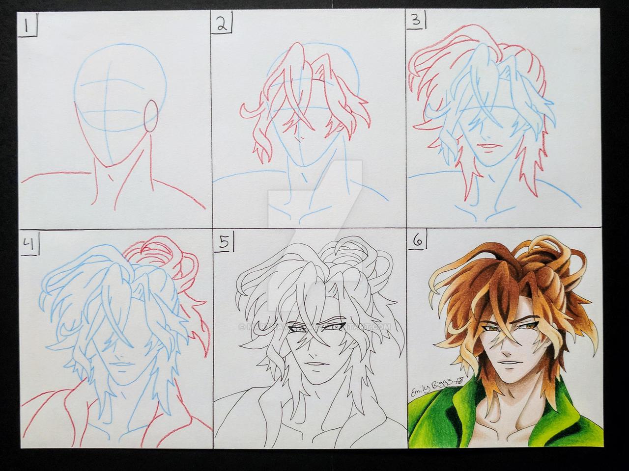 Drawing Tutorial: Learn to Draw Yuma Mukami by MarthaMukami