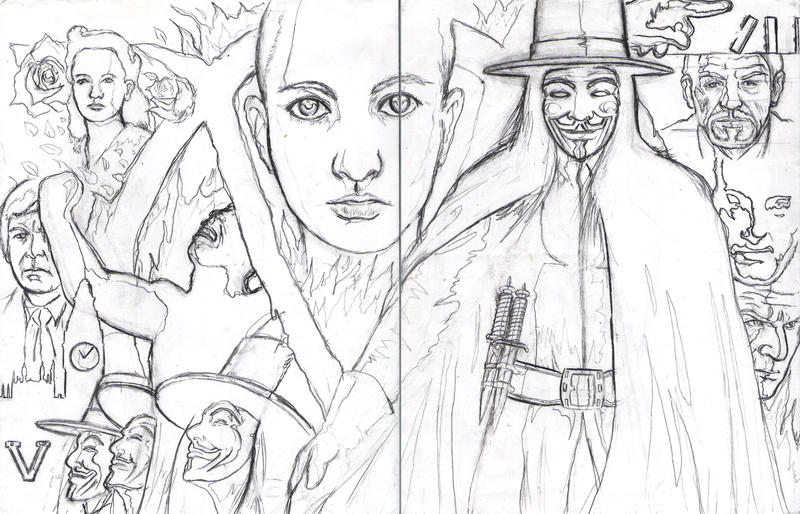 v for vendetta coloring pages - photo #29