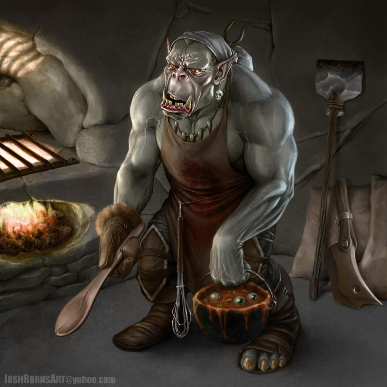 Dandd Shardmind Orc Cook by JoshBurns