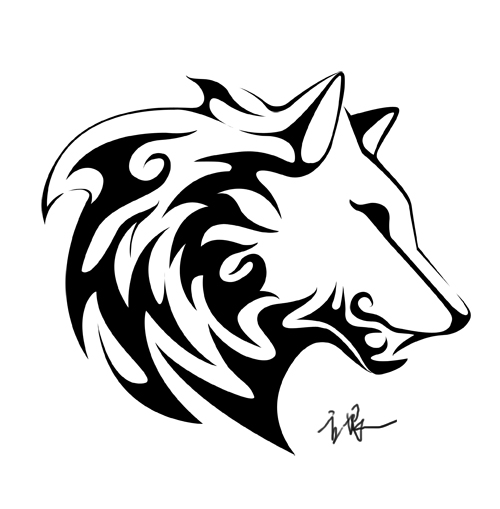 Wolf totem drawing - photo#4