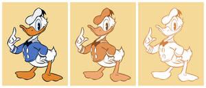 Donald Duck inking practise
