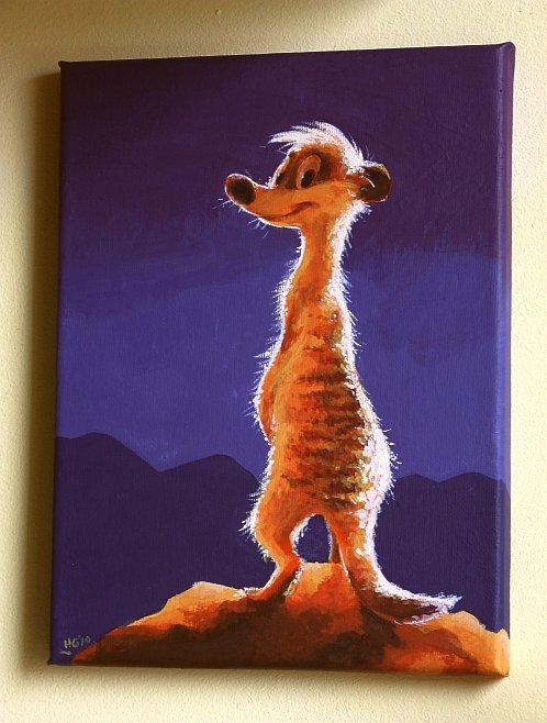 Meerkat painting by Henrieke