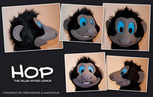 Hop the Sclater's lemur costume mask