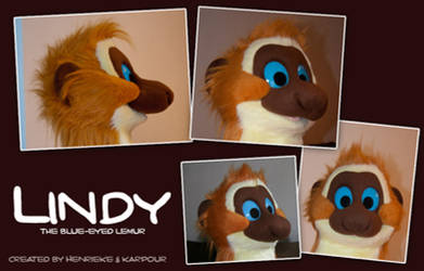 Lindy the Sclater's lemur costume mask