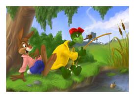 Brer Rabbit and Brer Terrapin by Henrieke