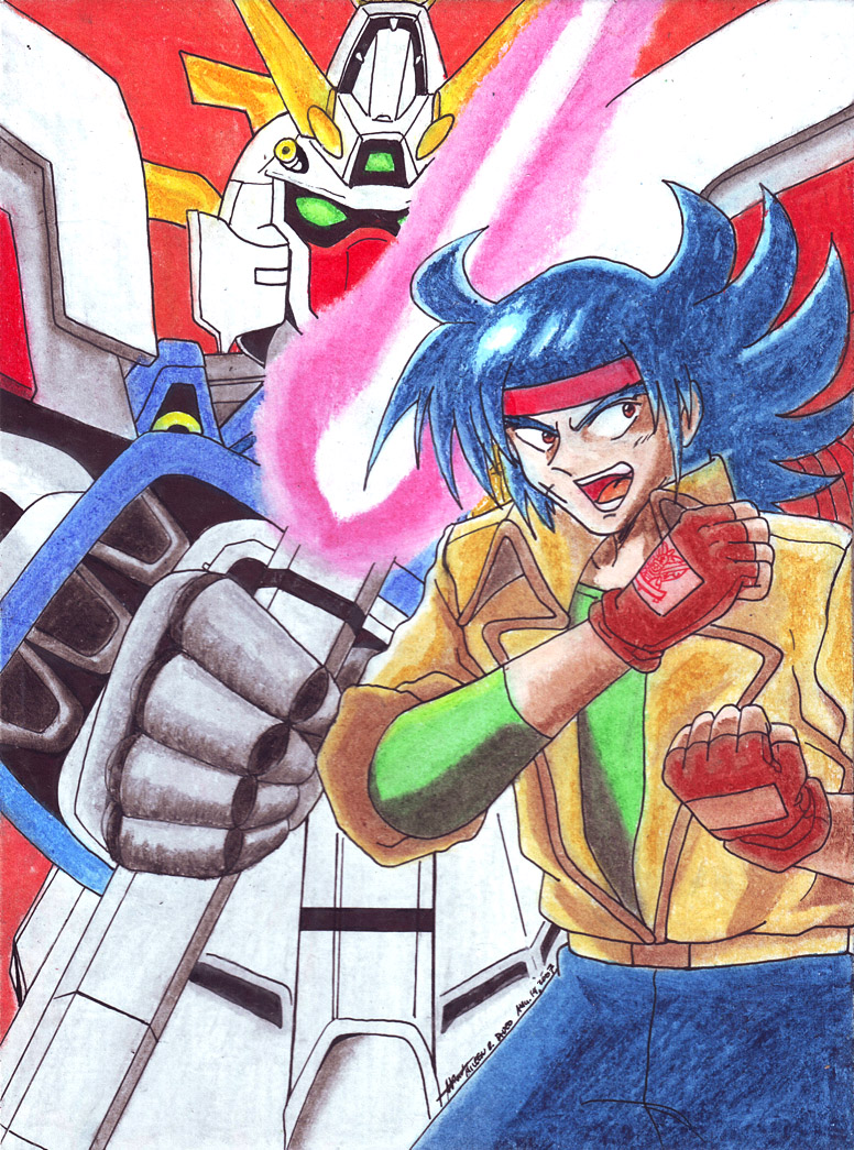 shining gundam domon kasshu by hirokada on deviantart