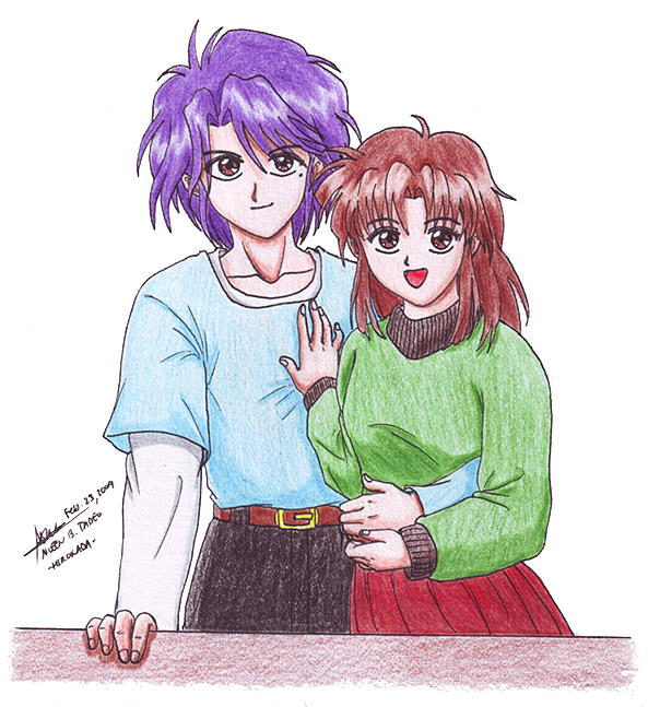 Nuriko and Miaka 1 by hirokada on DeviantArt