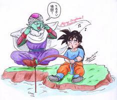 XMAS'09: Gohan and Piccolo by hirokada