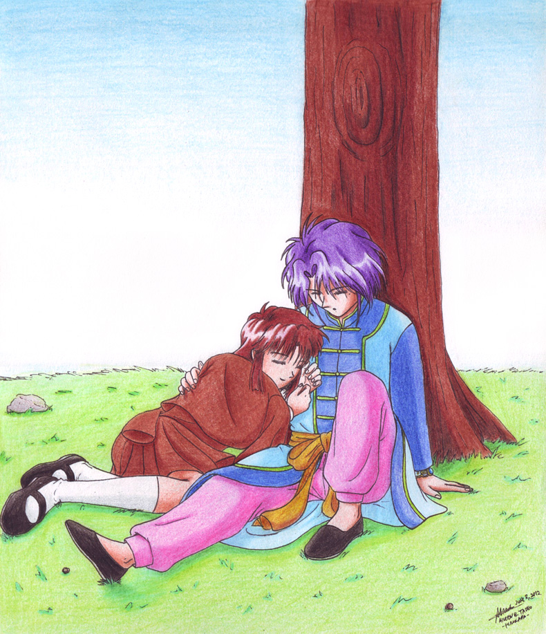 Nuriko and Miaka 8: Sleepy Afternoon by hirokada on DeviantArt