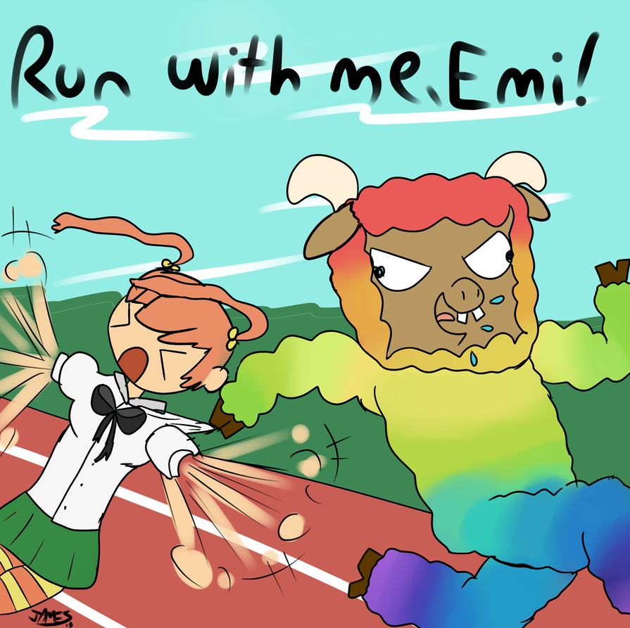 Run with me, Emi! by SpacePie