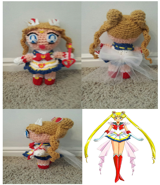Crochet Super Sailor Moon Plush by Maw1227
