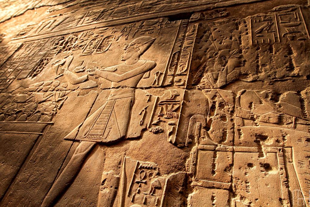 Temple of Karnak Walls. by nader-tharwat