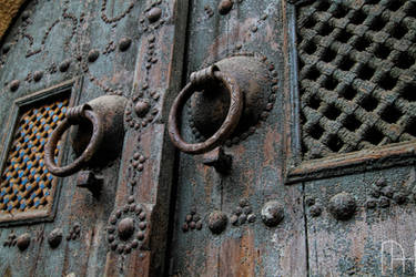 Tunisia Traditional door in Carthage.