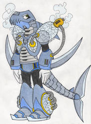 Commission: Flashfreeze Shark Concept by SilverStarSheep