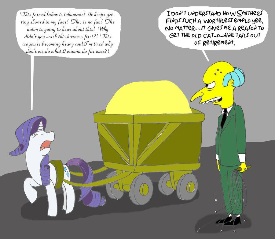 Rarity vs. Mr. Burns by Trey-Vore