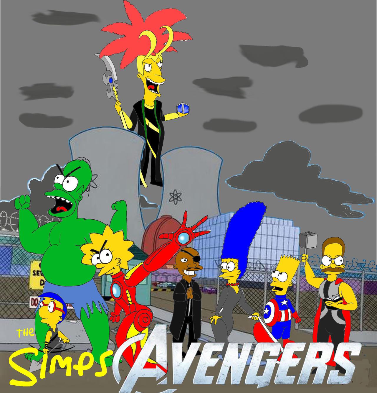 The SimpsAvengers by Trey-Vore