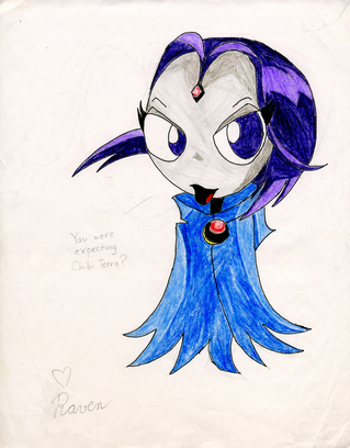 Chibi Raven by Trey-Vore