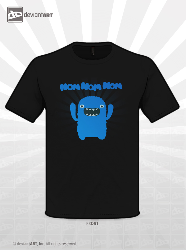 Om nom nom ! Monster T-Shirt by mrsbadbugs