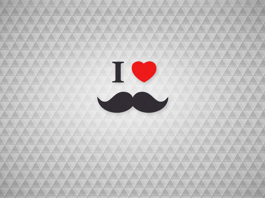free wallpaper i love mustaches beards by mrsbadbugs