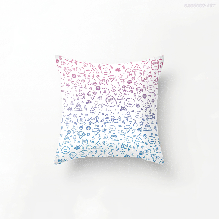 Super Sweet Monsters - Throw Pillow by mrsbadbugs