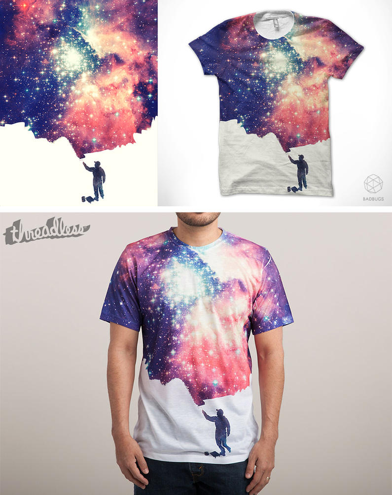 Painting the universe @threadless by mrsbadbugs