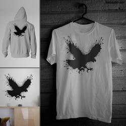 Splatter Eagle by mrsbadbugs