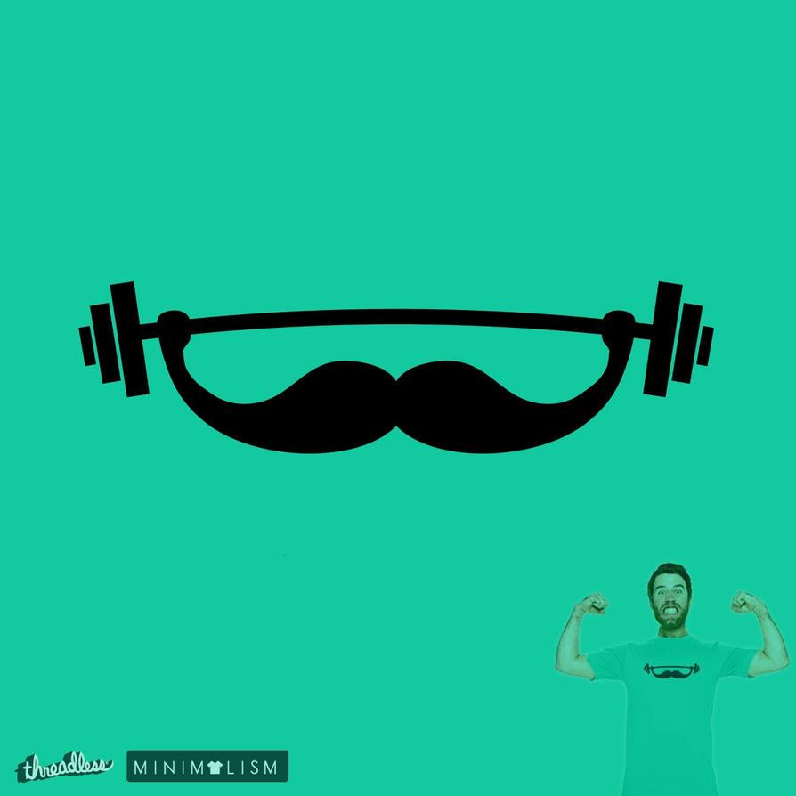 The Strong Beard @threadless (minimal challenge) by mrsbadbugs