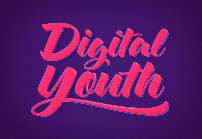 Digital Youth Young and Trendy Typography by mrsbadbugs