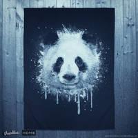 Watercolor Panda Portrait! @threadless by mrsbadbugs