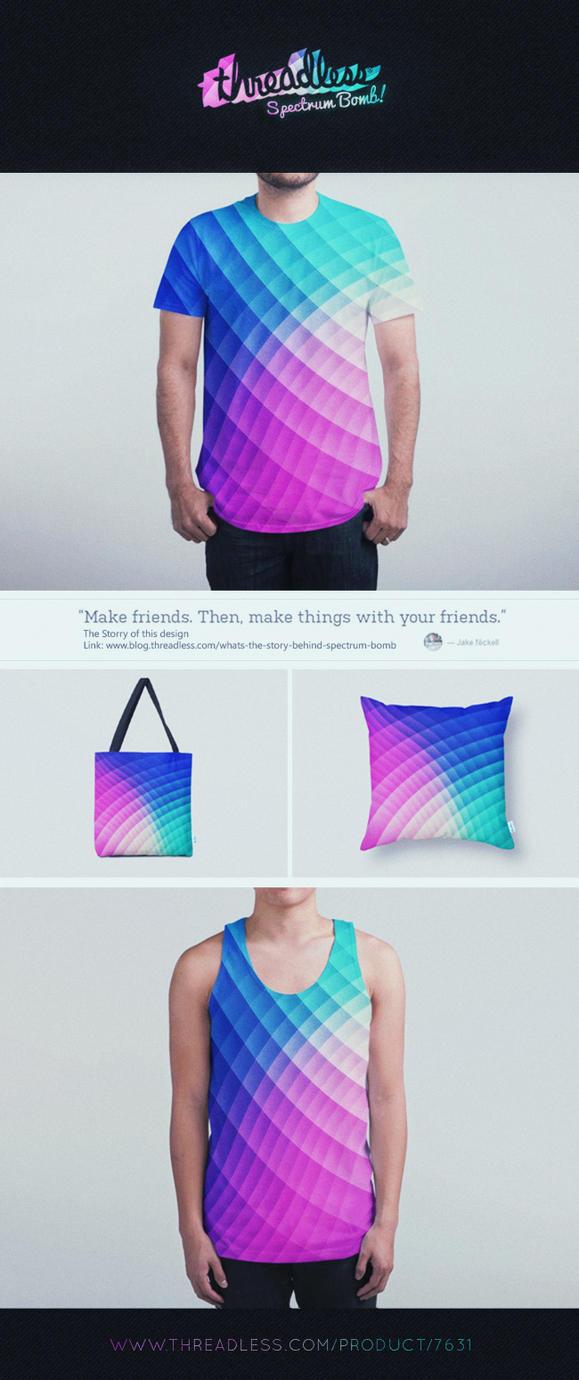 Fancy Specrum Bomb Pattern Design @Threadless by mrsbadbugs