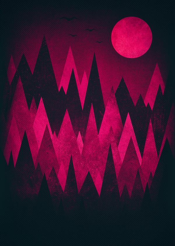 Dark Mystery Peak Wood's Geometrie Woods by mrsbadbugs