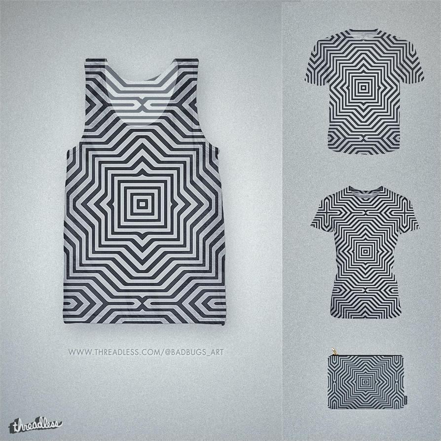 Minimal Geometrical Optical Illusion Pattern by mrsbadbugs
