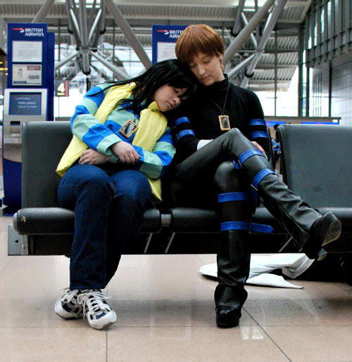Seto Kaiba and Mokuba Cosplay by Cytanin