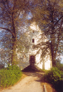 pointillic church